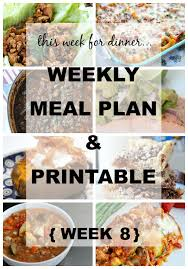 Weekly Menu Plan The Idea Room