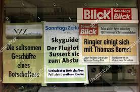 Aushange Der Drei Deutschschweizer Sonntagszeitungen Sonntagszeitung