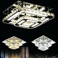 crystal led light modern square ceiling chandelier lamp pendant living room