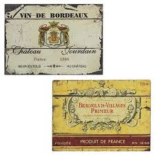 2 piece wall decor set with planked designs and french wine label motifs product on french wine label wall art with 35 best drinks labels graphics images on pinterest wine label