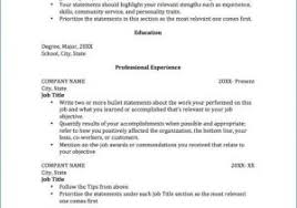 Writing A Resume With No Job Experience From Work Ethic Examples For