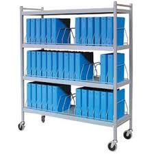 Mobile Chart Rack 45 Space Rolling Binder Cart Chart Pro