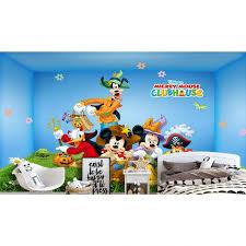 Tranh dán tường 3D chuột Mickey và vịt Donald TB59