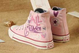 converse shoes for girls pink. pink lady gaga converse graffiti printed all star high tops women girls chuck taylor sneakers, shoes for