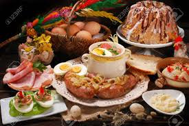 Mini meatloaves stuffed with egg. Easter Traditional Polish Dishes On Rural Wooden Table Stock Photo Picture And Royalty Free Image Image 36889814