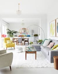 white wall paint interior design ideas living room carpet of yellow Chair