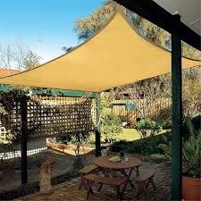 garden canopy. 6X4m Rectangle Sun Shade Sail Outdoor Garden UV Protection Top Canopy Cover Patio Pool Coffee Shop