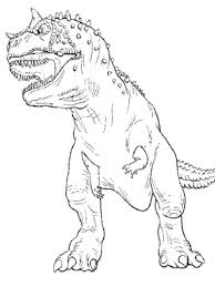 T Rex Coloring Page Jurassic World Kids Colouring Pages