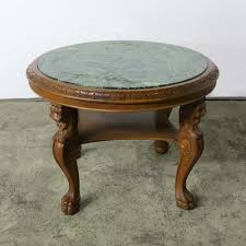 vintage coffee table with marble top