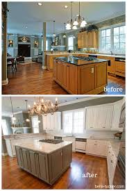painting kitchen cabinets before and afterRosewood Bright White Raised Door Painting Kitchen Cabinets Before