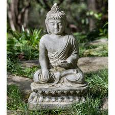 outdoor buddha garden statue splendid campania international seated lotus buddha garden statue hayneedle large