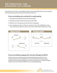 Kc Millwork Trim Chart Door Swings