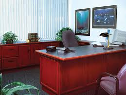 corporate office desk. cherry desk and credenza corporate office f
