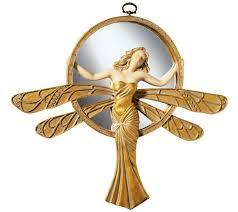 Design Toscano Mirror Design Toscano Lady Dragonfly Art Deco Accent Wall Mirror Qvc Com