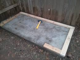 picture of cover the slab if necessary and cleanup