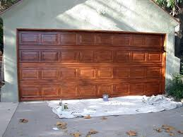 faux wood garage doors diy door stain