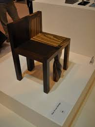 unique wood chair. Side View Of Unique Wooden Chair In Interconnecting Twisted Legs Wood C