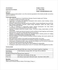 Business Analyst Resume Sample Best 60 Business Analyst Resumes Free Sample Example Format Free