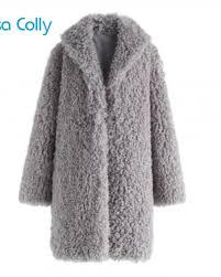 lisa colly fake fur women faux fur coats women lambswool jacket female winter thick furs coats overcoats women long outwear