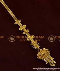 Gold Nethichutti Designs Light Weight Bridal Wear Gold Plated Design Nethi Chutti