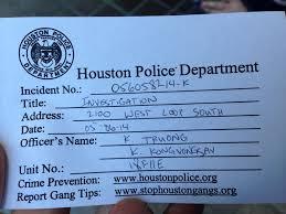 Houston Police Incident Report Number Barca Fontanacountryinn Com