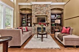 fireplace niche decorating ideas living room traditional with dark