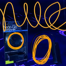 orange el wire string light decorative lighting led lighting el wire string light orange 6 foot 3 mode