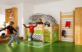 Sports Decor For Boys Bedroom White Table Along Blue Wall Boys Sports Bedroom Ideas Large