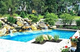 in ground pools with waterfalls. Pool With Waterfall In Ground Pools Waterfalls Swimming Rocks For Inground Poo .