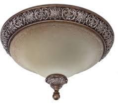 artcraft ac1465 vienna bronze flush mount ceiling light fixture loading zoom