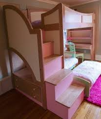 bunk bed with stairs for girls. Awesome Loft Bed With Desk And Stairs For Teenagers Images . Bunk Girls W
