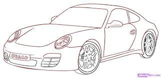6 How To Draw A Porsche 911 Carrera Car