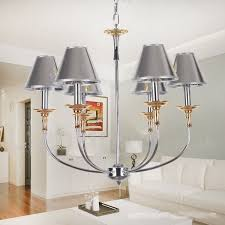 6 light modern contemporary chrome living room dining room bedroom candle style chandelier