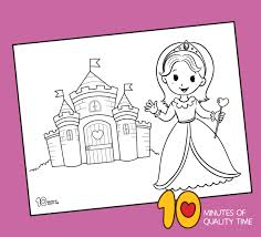 It seems that she's in love resting. Princess Coloring Page 10 Minutes Of Quality Time