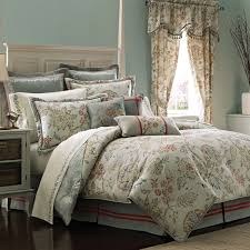 red and green fl pattern bedding set with curtain for bedroom interior design luxurious bedroom