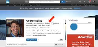 career coaching how to improve your linkedin profile in less than linkedin profile title