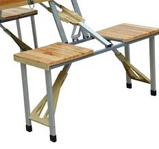 outsunny foldable wooden camping picnic table set aosomcouk wood patio furniture folding designs