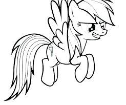 My Little Pony Rainbow Dash Coloring Pages Games Pertaining To