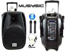 sound system wireless: image is loading w professional   speaker pa system