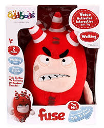 oddbods voice activated interactive fuse soft toy 28cm amazon co oddbods voice activated interactive fuse soft toy 28cm amazon co uk toys games