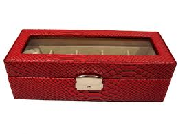 ladies watch boxes 4himonly the store for mens luxury goods and 5 red black alligator finish watch case