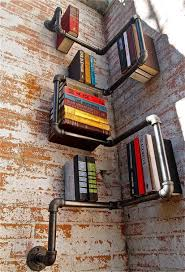 Winding Pipes Metal Bookcase Steampunk Interior Design