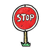 Image result for stop sign clip art