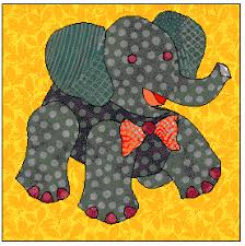 Free Elephant Quilt Block to Applique - for a circus quilt - a ... & Free Elephant Quilt Block to Applique - for a circus quilt - a . Adamdwight.com