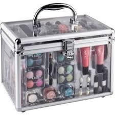 makeup aquatechnics biz up brush set miss cutie clear vine beauty carry case at argos co