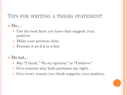 how to make an outline and thesis statement position statement  tips for writing a thesis statement