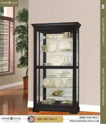 680538 tyler mirrored glass black curio cabinet