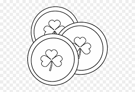 Venn Diagram 3 Black And White Saint Patricks Day Coins Clip Art Venn Diagram 3