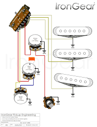 irongear pickups wiring Guitar Wiring Diagrams 1 Pickup 3 x single coil, 1 volume, 2 tone, 5 way blade selector guitar wiring diagrams 1 pickup no volume