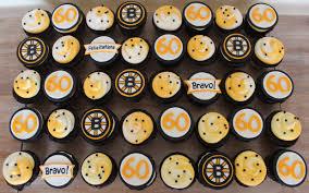 Cupcake Designs For Men Boston Bruins Cupcakes Cake Buttercream Swirl Logo